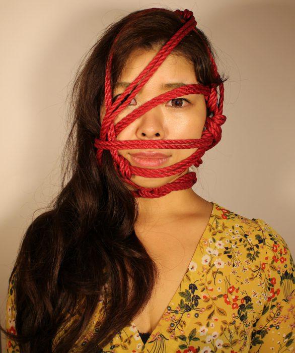 bondage-woman's face