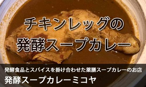 発酵スープカレーミコヤ チキンレッグの発酵スープカレー